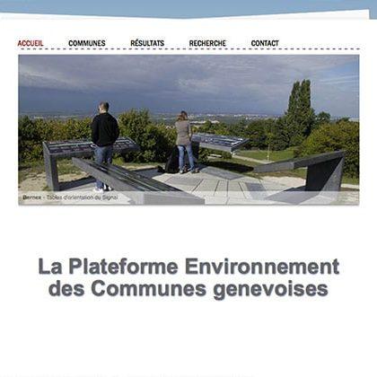 Plateforme Environnement des Communes genevoises